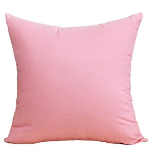 Dylandy Funda de Cojín de Algodón, Funda de Almohada Lisa de Color Liso, Cuadrada, para sofá, Cama...