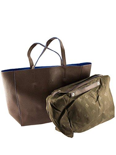 Borsa Shopper FEZ-Donna-Ecopelle-Pochette Interna MainApps Marrone