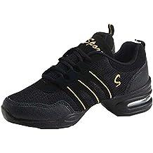Zapatos de Baile Danza Moderna Zapatos de Jazz Movimiento Zapatos de la  Aptitud a392f774966