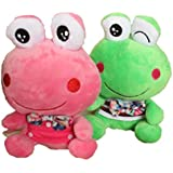 """KateDy 2 Packs 8"""" Cute Smiley Fairy Tale Frog Prince Plush Toys Doll Stuffed Animal Baby Kids Pillow For Wedding Birthday Gift"""