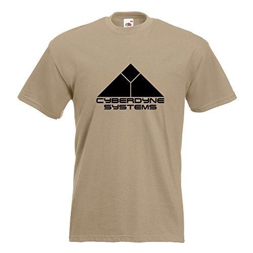KIWISTAR - Cyberdyne Systems Terminator T-Shirt in 15 verschiedenen Farben - Herren Funshirt bedruckt Design Sprüche Spruch Motive Oberteil Baumwolle Print Größe S M L XL XXL Khaki
