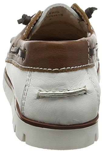 Lotus Silverio, Chaussures Bateau Femme White (white/tan)