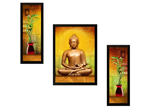 SAF 'Buddha Religious' Painting (Synthetic, 35 cm x 3 cm x 50 cm, SA30)