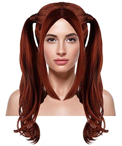 THEHAIRDROBE Dolly Pigtail Perücke   Dunkle Auburn Party-Ereignis Bereit Cosplay Halloween HW-363