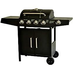 extérieur Barbecue au gaz Grill pour Barbecue 4+1 brûleurs Barbecue Grill TUV testé