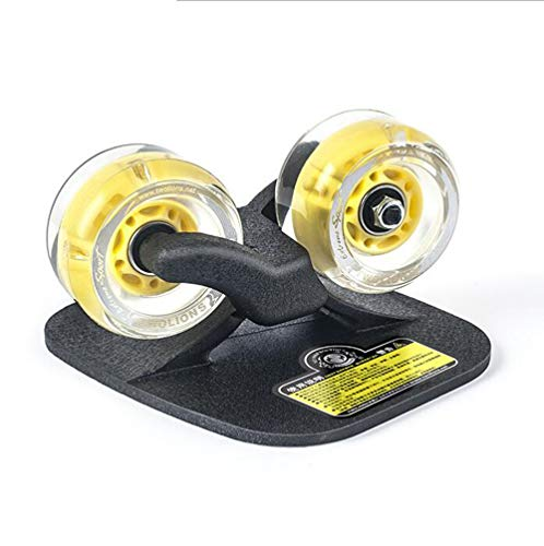 Drift Skate, klassische Fisch Print Flash-Rad-Serie Skateboard (Color : Yellow)