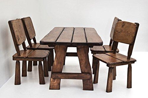 Timberline Sitzgruppe Wildlife 150 cm Outdoor Gartenmöbel, Farbe:Palisander;Material:Eiche