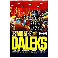 """""""Dr WHO & THE DALEKS"""" .Peter Cushing Roy Castle TV Movie Poster - Poster Size : A4"""