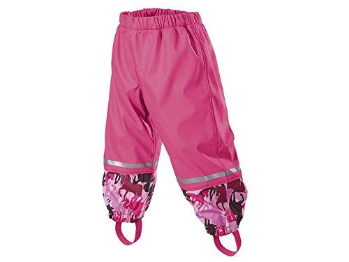 Mädchen Matsch- und Buddelhose Matschhose Regenhose pink (86/92)