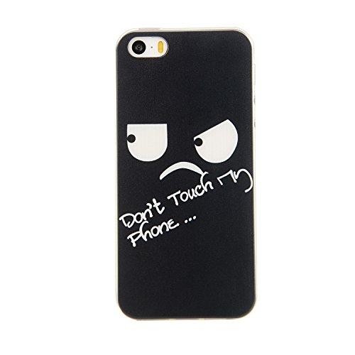 iPhone SE Coque, MOONCASE iPhone 5s Étui Slim Fit Housse en TPU Absorption de Chocs Case Cover pour iPhone SE / 5S / 5 - YG12 Série multicolore - YG13