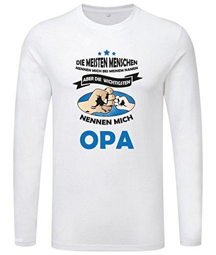 Die wichtigsten nennen mich Opa - Herren Langarmshirt Weiß