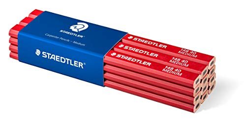 Staedtler 148 40 Zimmermann-Bleistift, oval-achtkant, Härtegrad medium, für Strichbreiten von 1 - 2 mm, ungespitzt, 175 mm lang, hohe Qualität, aus umweltfreundlichem FSC-Holz