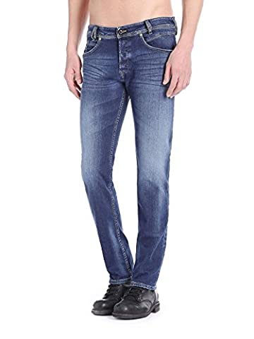 Diesel Iakop 0839H Herren Jeans Hose Slim Stretch (W32/L32, Blau)
