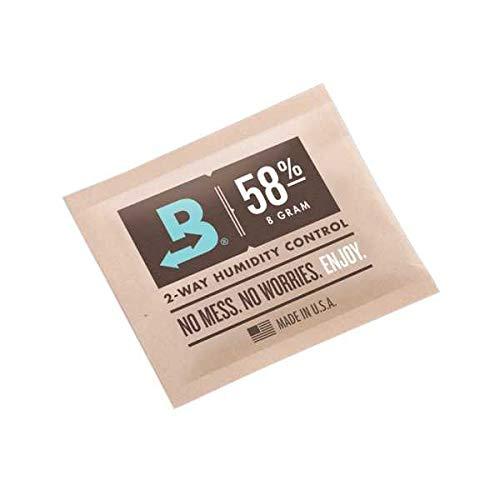 Boveda 8 Gram 58% Humidity Humidipack 2 Way Control for Cigar humidors (15x 8 Gram Packet)