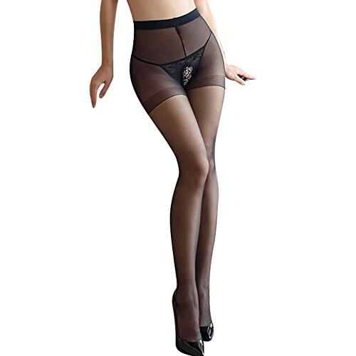 Meiye Frauen Sexy schiere Oberschenkel-hohe Strümpfe Strumpfhosen tragen, öffnen Schritt Strumpfhosen Sexy (Knee High Nylon-sheer Socken)