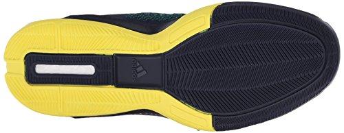 Adidas Performance 2015 Crazylight Boost Primeknit chaussure de basket, Noir / Pourpre royale Plein Collegiate Navy/Collegiate Navy/Bright Yellow