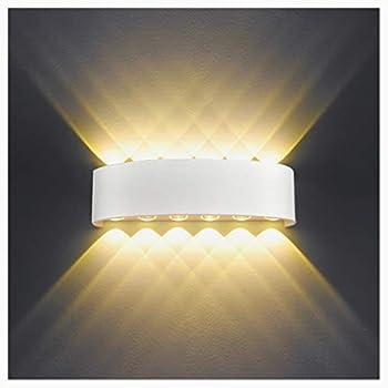 Applique Murale Interieur Led 12w Blanc Lampe Murale Moderne Ip65 Etanche Appliques Murales Exterieures En Aluminium Up Down Spot Lampe Pour Salon