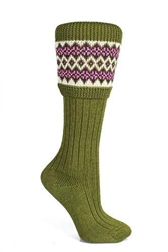 Lewis Cable Knit Mid Light Grey Merino Wool Kilt Hose Socks Made in Scotland