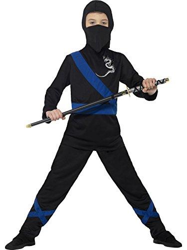 der Jungen Ninja Assassin Kostüm, Kapuze, Maske, Oberteil und Hose, Alter: 4-6 Jahre, mehrfarbig (Alte Krieger Kostüme)