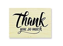 Stampendous Penned Thank You Rubber Stamp