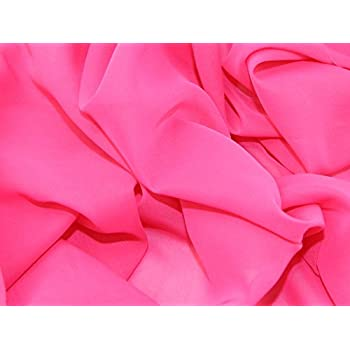 0b971f9b717b Uni Chiffon Kleid Stoff Cerise Pink – Meterware + Gratis Minerva Crafts  Craft Guide