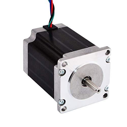 JoyNano Nema 23 Motor paso a paso bipolar 2.8A 1.89N.m Torque de retención 2-Fase 4-Cable 1.8 Deg 76mm Cuerpo para impresora 3D o máquina CNC