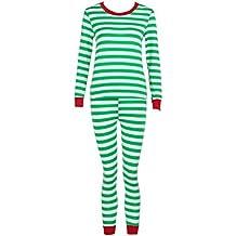 ISSHE Pijamas de Navidad Familia Pijamas Parejas Navideñas Adultos Pijama Familiares Manga Larga Hombre Mujer Trajes