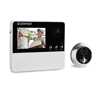 Duramaxx FamilyGuard Basic Digitaler-Türspion Türkamera Kamera-Spion (120° Weitwinkel, 3,2 Zoll Display, Batterie-Betrieb) weiß
