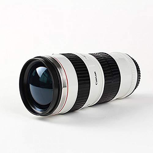 BEBAOWN thermobecher Kameraobjektiv-Becher 440Ml kreativer Edelstahl-Becher heiße Canon 70-200...