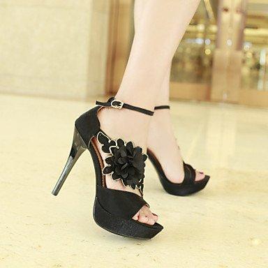 LvYuan Da donna-Sandali-Matrimonio Formale Serata e festa-Altro Club Shoes-A stiletto-Finta pelle-Nero Rosso Black