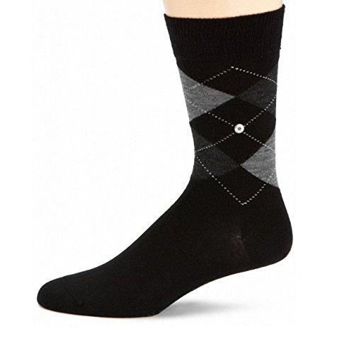 Burlington Herren Socken Edinburgh 3er Pack, Größe:40-46;Farbe:black-3000