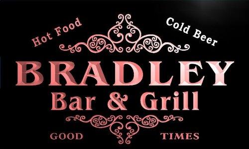 u05051-r BRADLEY Family Name Bar & Grill Cold Beer Neon Light Sign Barlicht Neonlicht Lichtwerbung (Bradley Grill)