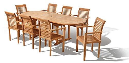 Java Teak Salon de jardin 17 éléments Design Westminster