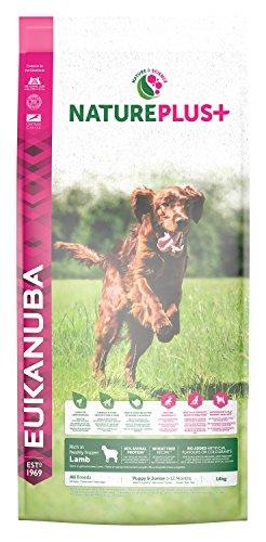 Eukanuba Nature Plus+ Cachorro y Junior Rico en cordero fresco congelado [14 kg]