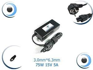 Adaptateur alimentation chargeur pour ordinateur portable Toshiba SADP-75PB B - Visiodirect
