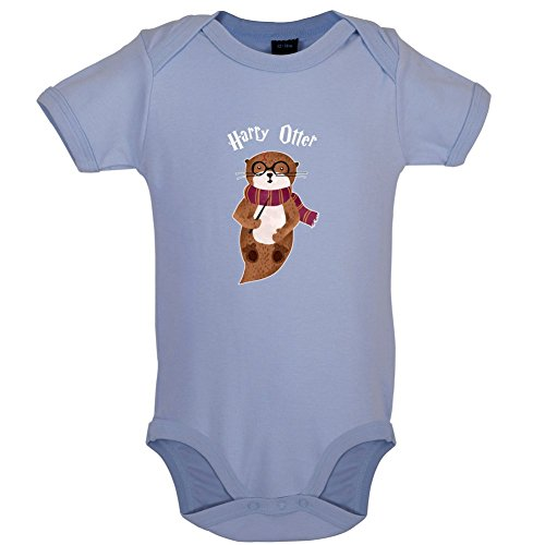 Dressdown Harry Otter - Lustiger Baby-Body - Taubenblau - 0 bis 3 Monate