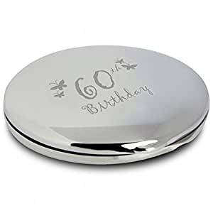 Butterfly Engraved Mirror Compact Christmas Xmas Present