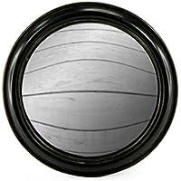 Nero rotondo incorniciato oblò convesso specchio fisheye 23cm