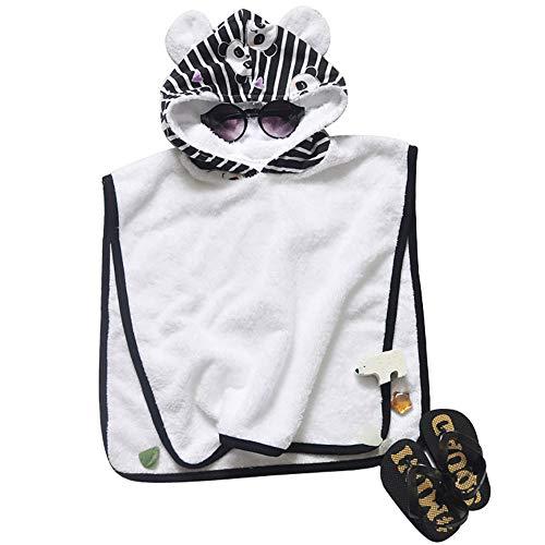DecoBay Tierstickerei-mit Kapuze Bad-Strand-Tuch-Bademantel-Pyjama-Kostüm-Umhang-Umhang für Kinder (1 Jahr Alten Panda Kostüm)