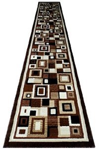 Masada Rugs Modernes Bereich Teppich Design Americana 125Braun Grün Modern (32 inch X 15 Feet 10 inch) Runner Braun - 10 X 14 Bereich Teppich