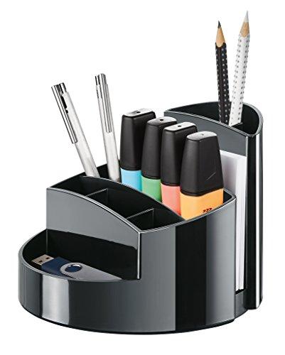 HAN 17460-13, Schreibtischköcher RONDO, Elegant, Hochglänzend, Premium Qualität mit 9 Fächern, schwarz - 2