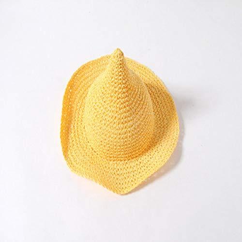 Kostüm Gogh Baby Van - mlpnko New Strohhut Mädchen Baby Strand Hut großen Hut Sonnenhut gelb 52-54cm