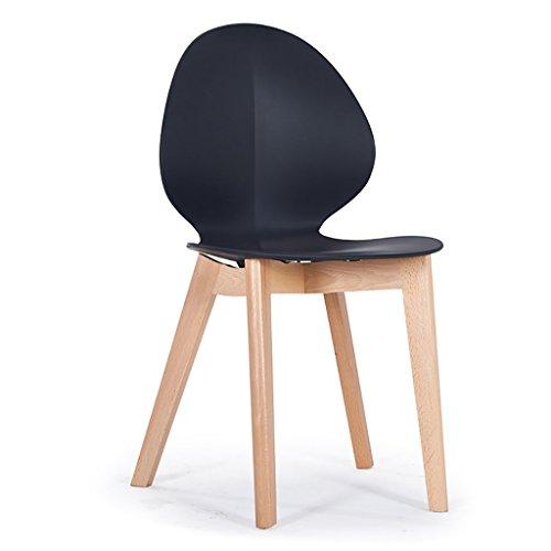 Whydianpu sedia pieghevole sedia per il tempo libero sedia da pranzo creativa sedia moderna minimalista in legno massello sedia da caffetteria in plastica seduta in eucalipto sedia in pelle adatta for