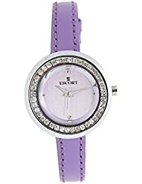 Escort Analog Silver Dial Women's Watch- 4125 SL