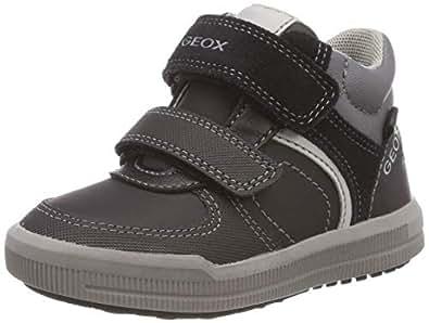 Geox J Arzach B, Sneaker a Collo Alto Bambino, Grigio (Black/Dk Grey C0005), 24 EU
