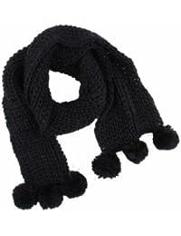Alsino Schal Tuch Schultertuch Halstuch Tücher Strickschal mit Bommel 27