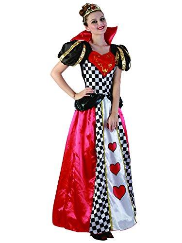 Fairytale Queen of Hearts Damen Kostüm Halloween Kostüm Alice im Wunderland (Halloween Queen Hearts Of)