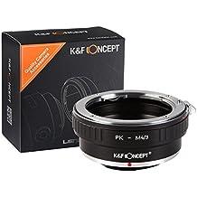 PK Lente per M4/3 Camera Body, K&F Concept Adattatore di obiettivo Panasonic GF1 GF2 GF3 GF5 GF6 G1 G2 G3 G6 GX1 GX7 GH1 GH2 GH3 Olympus M1 E-P1 E-P2 E-P3 E-P5 E-5 E-PM1