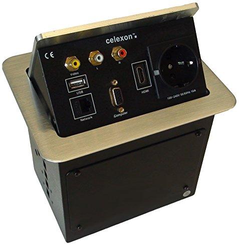 celexon Expert Tischanschlussfeld TA-200S, Ordnung auf und unter dem Konferenztisch