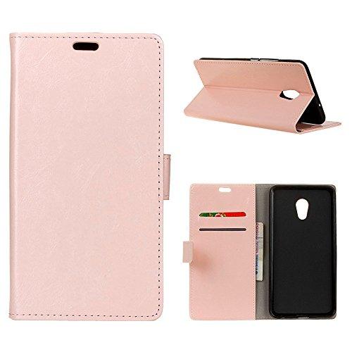 MOONCASE Meizu Pro 6 Plus Hülle, Flip Leder Tasche Brieftasche mit Ständer Handyhülle Flexibel Silikon Stoßfest Schutzhülle Case für Meizu Pro 6 Plus 5.7